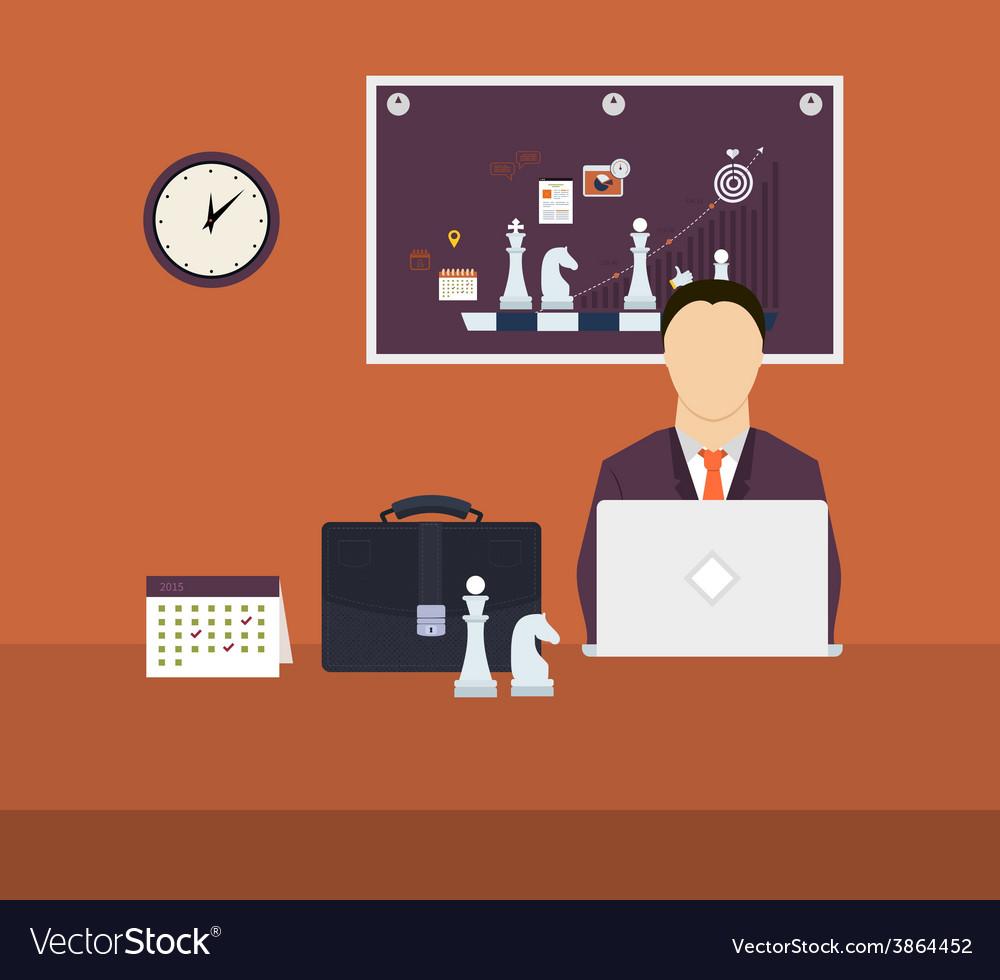 Set of flat design concepts vector | Price: 1 Credit (USD $1)