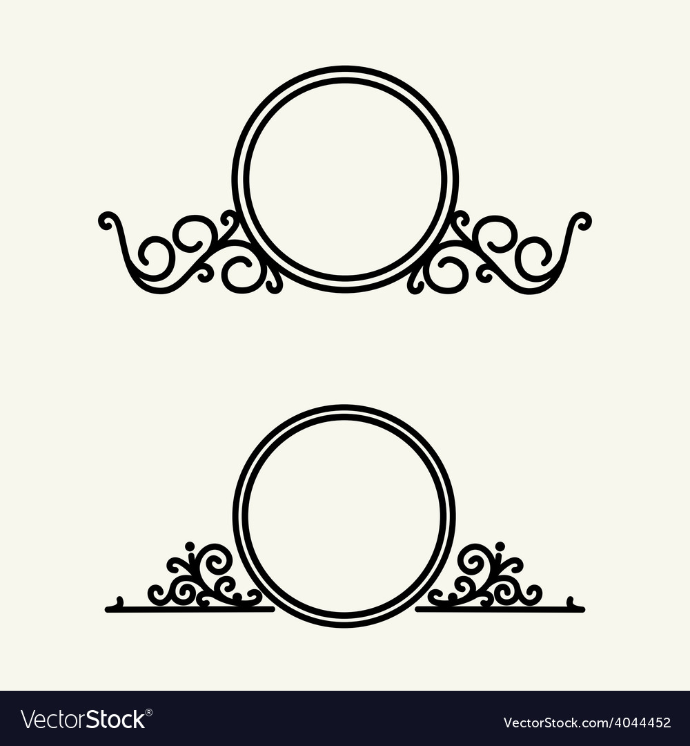 Set  simple and graceful floral monogram vector   Price: 1 Credit (USD $1)