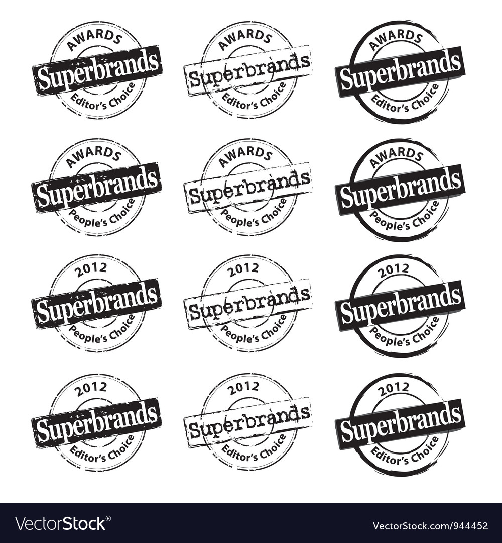 Superbrand rubber stamp vector | Price: 1 Credit (USD $1)