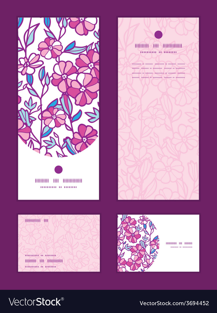 Vibrant field flowers vertical frame vector | Price: 1 Credit (USD $1)