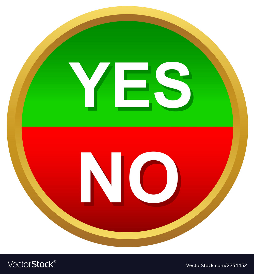 Yes or no icons vector | Price: 1 Credit (USD $1)
