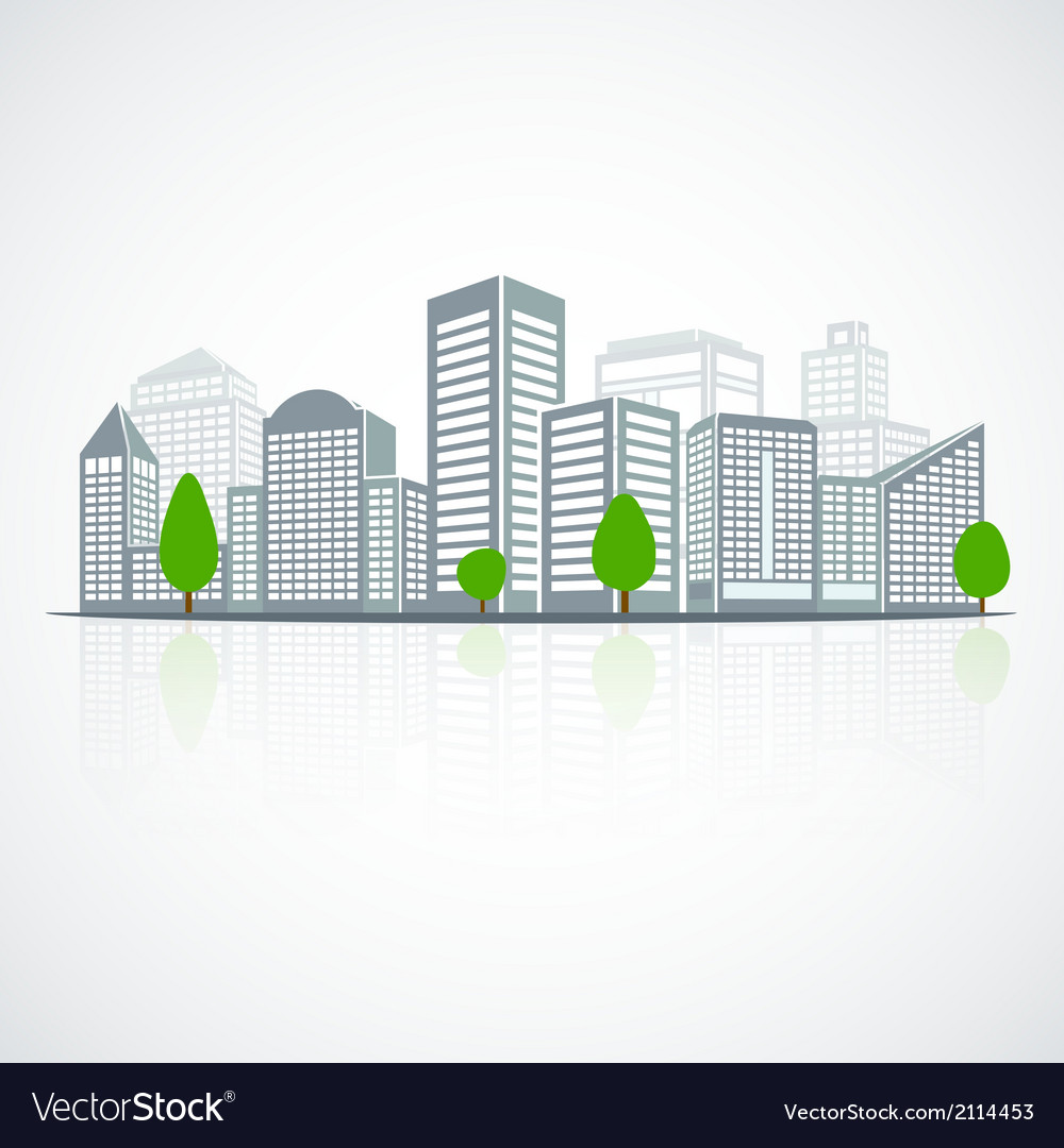 Building landscape emblem vector | Price: 1 Credit (USD $1)