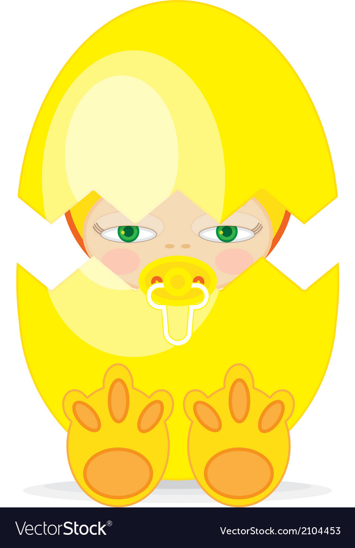 Easter baby gegg vector | Price: 1 Credit (USD $1)