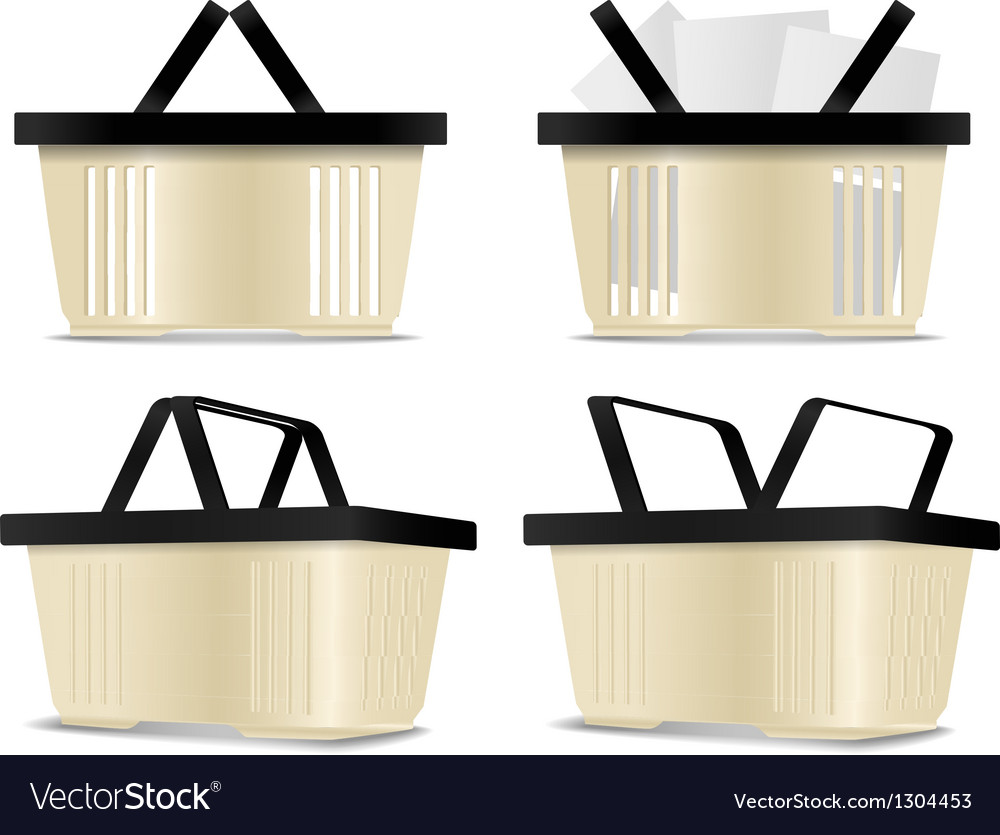Empty and full shopping cart icons vector | Price: 1 Credit (USD $1)