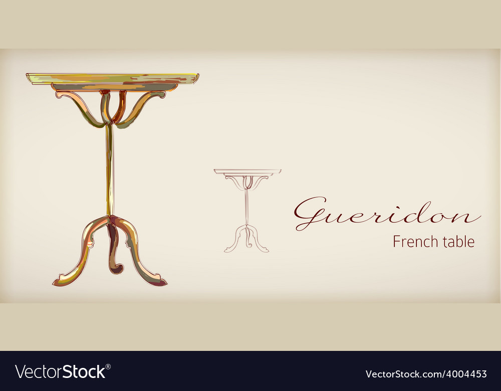 French table vector | Price: 1 Credit (USD $1)