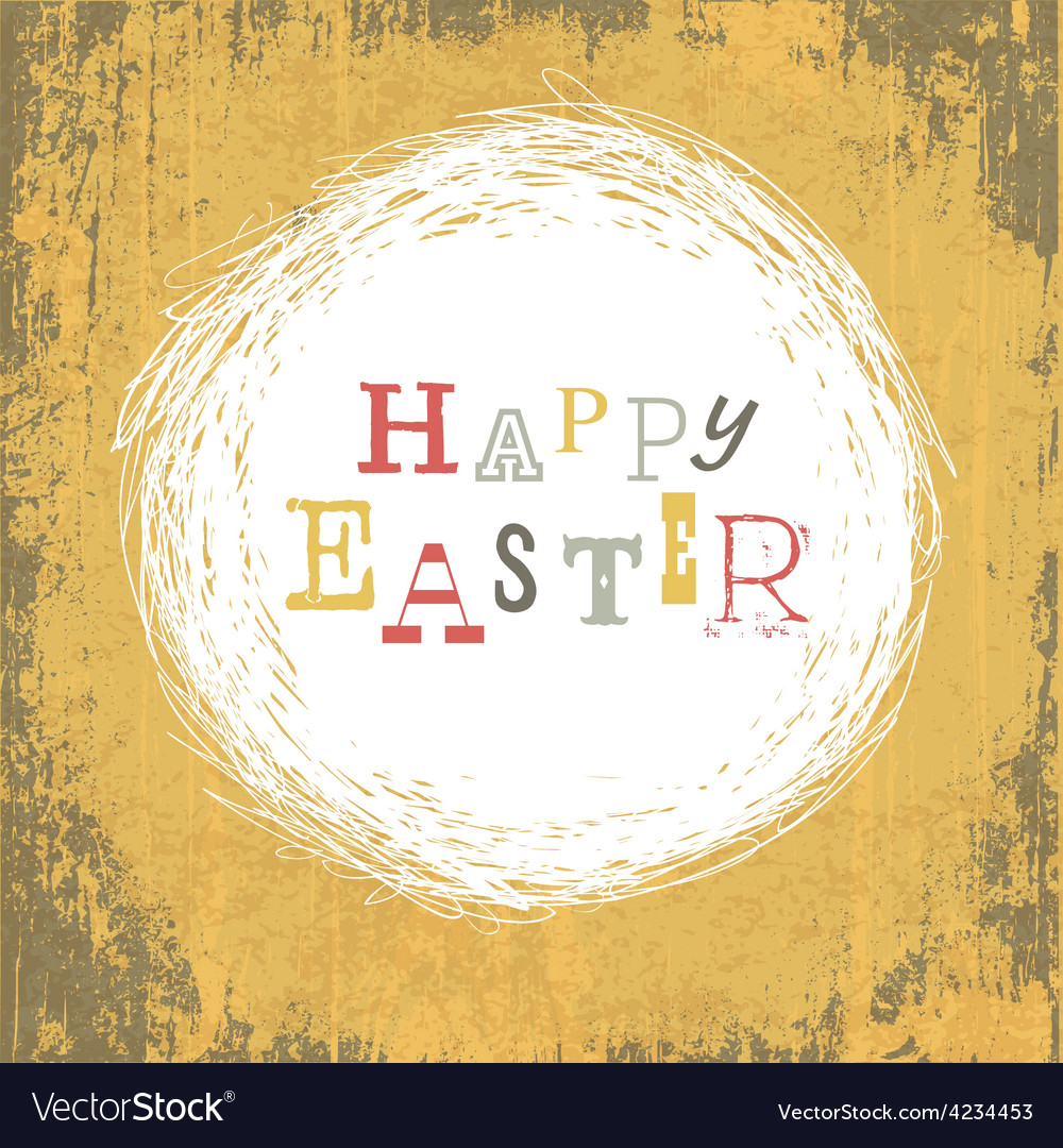 Grungy easter card vector | Price: 1 Credit (USD $1)