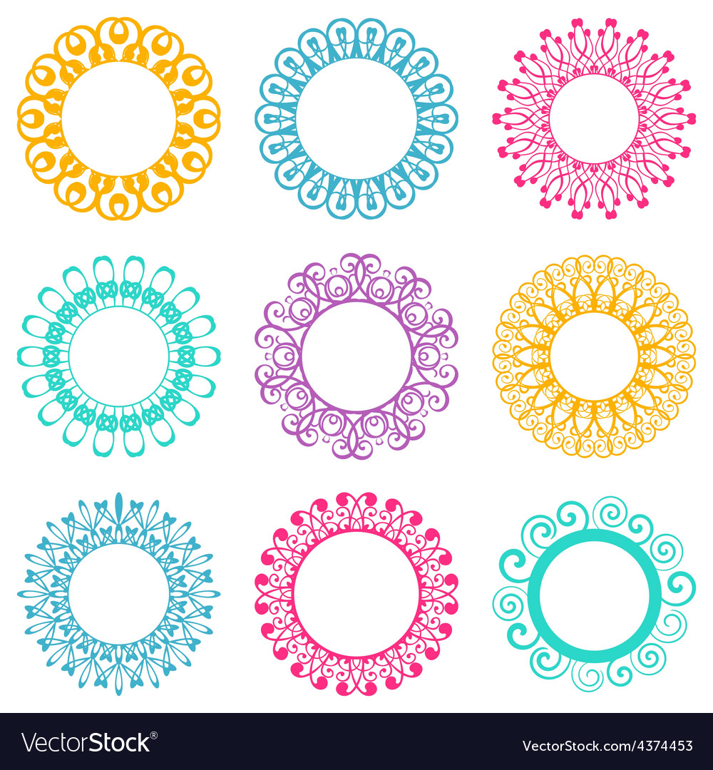 Napkin lace design elements vector | Price: 1 Credit (USD $1)