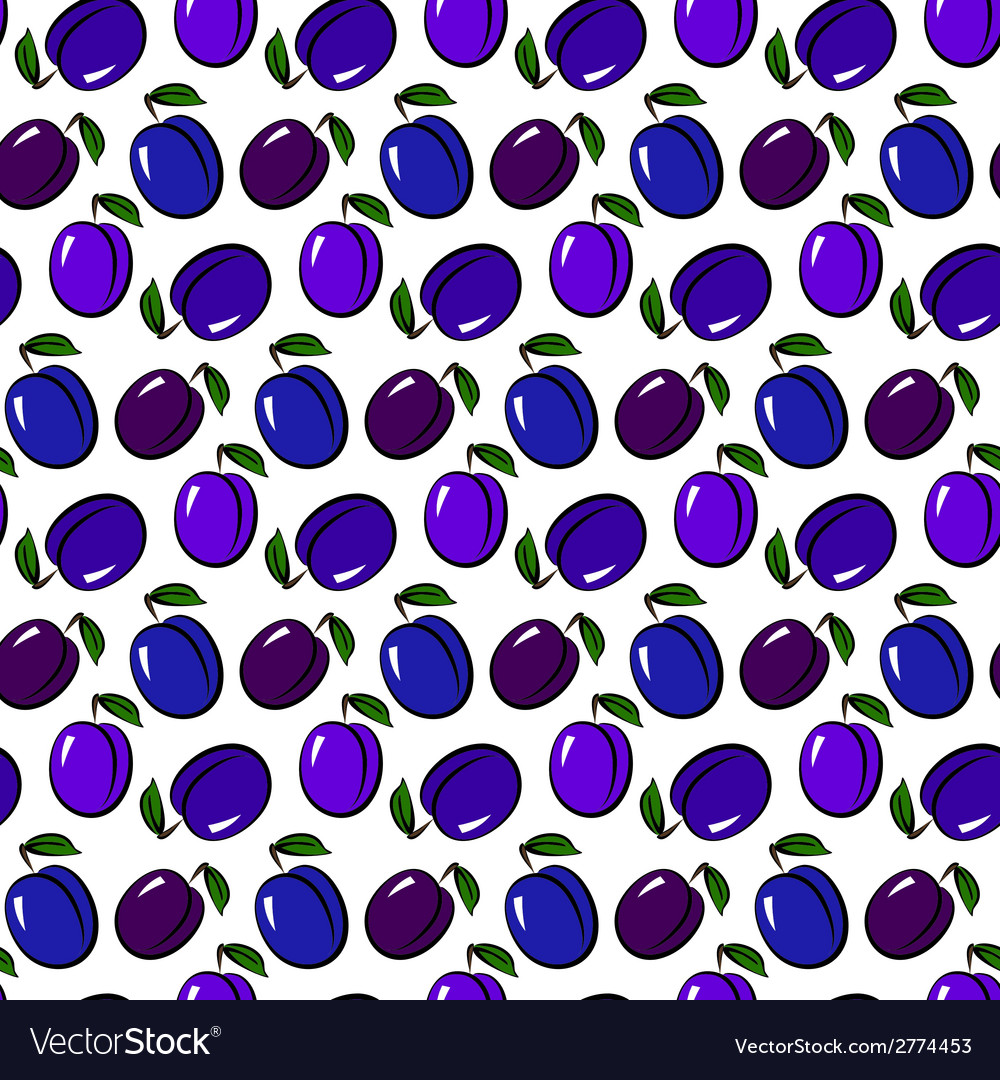 Plum pattern vector | Price: 1 Credit (USD $1)