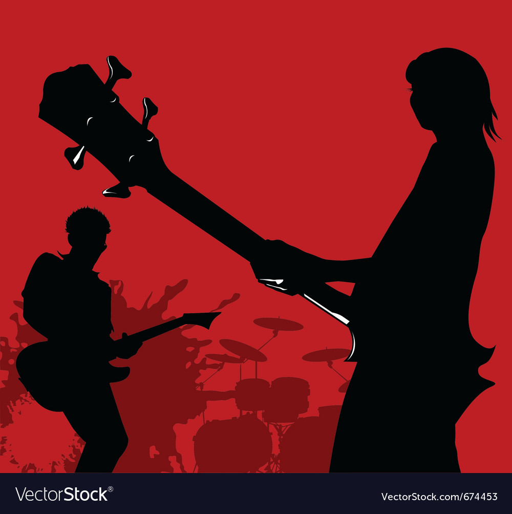 Rock band vector | Price: 1 Credit (USD $1)