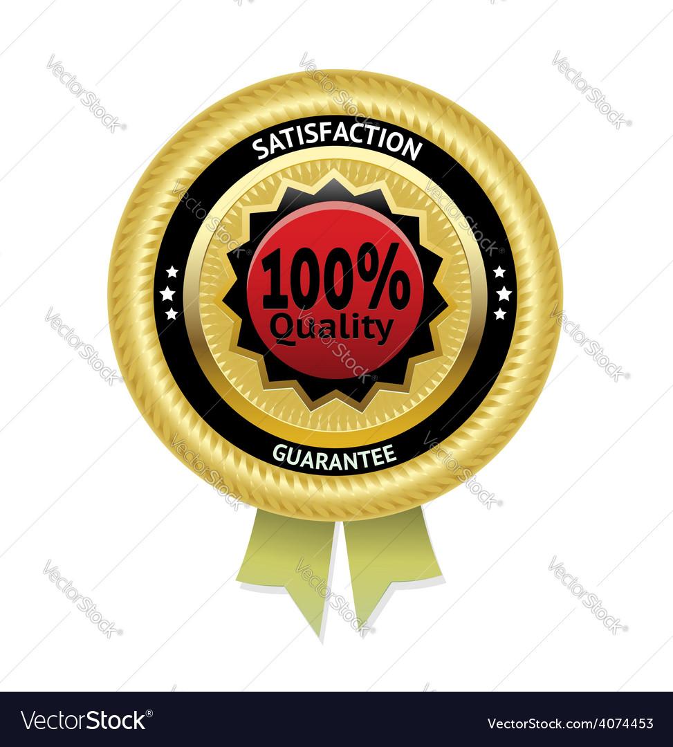 Satisfaction guarantee label eps 10 vector | Price: 1 Credit (USD $1)