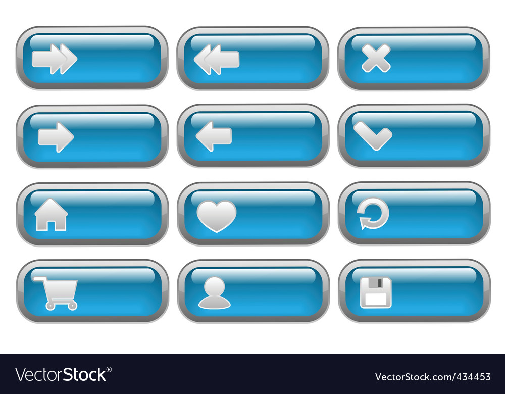 Shiny internet buttons set vector | Price: 1 Credit (USD $1)
