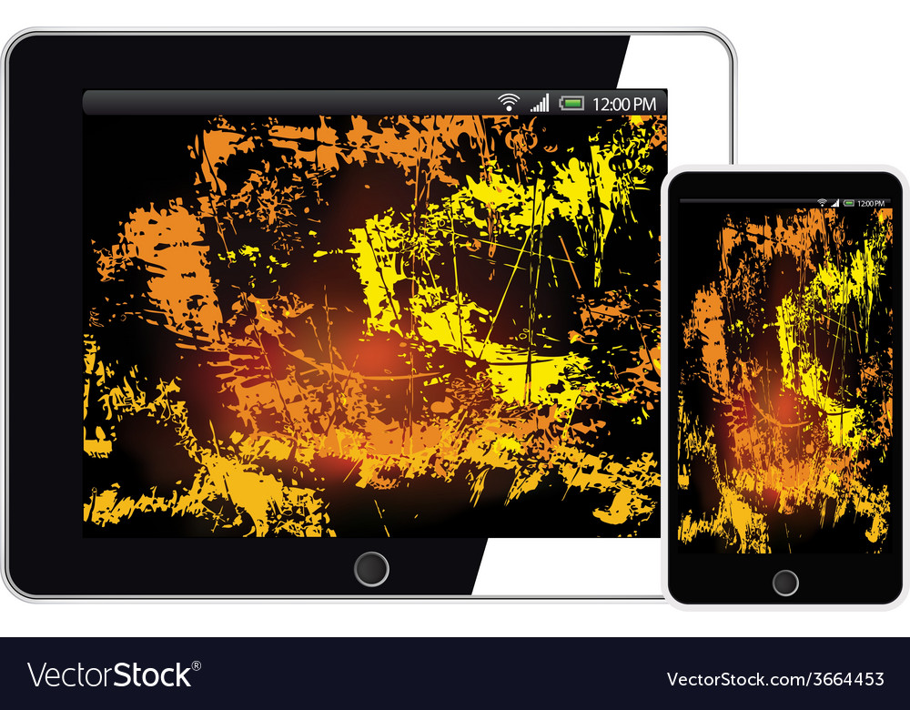 Tablet and smartphone mobile with abstract vector | Price: 1 Credit (USD $1)