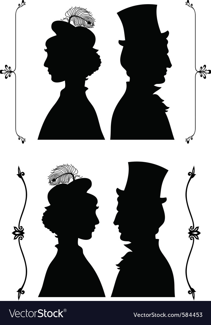 Vintage cameo silhouette vector | Price: 1 Credit (USD $1)