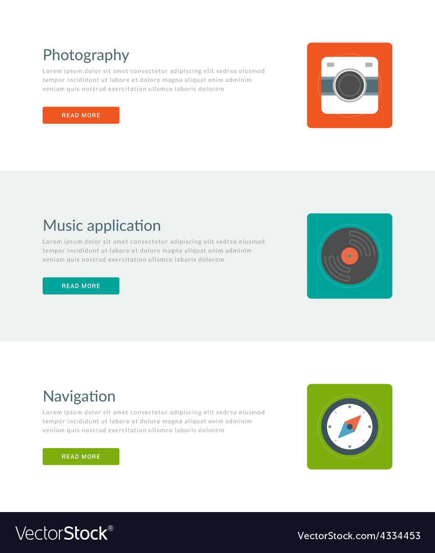 Website headers or promotion banners templates vector | Price: 1 Credit (USD $1)