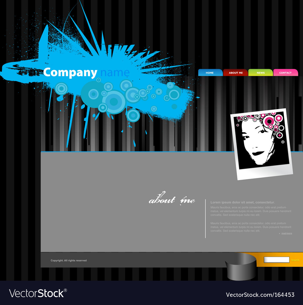 Website template with stripes vector | Price: 1 Credit (USD $1)
