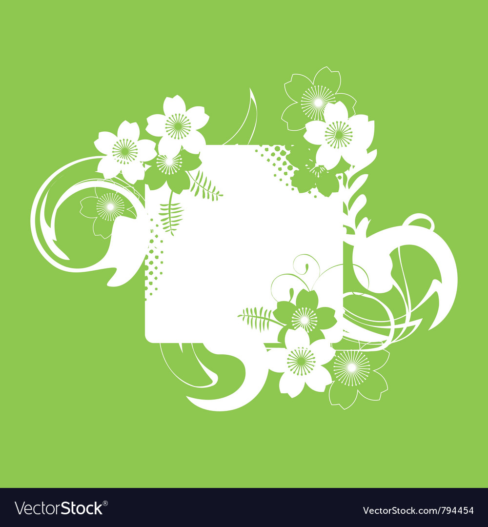 A frame with a floral decor and a space for text vector | Price: 1 Credit (USD $1)
