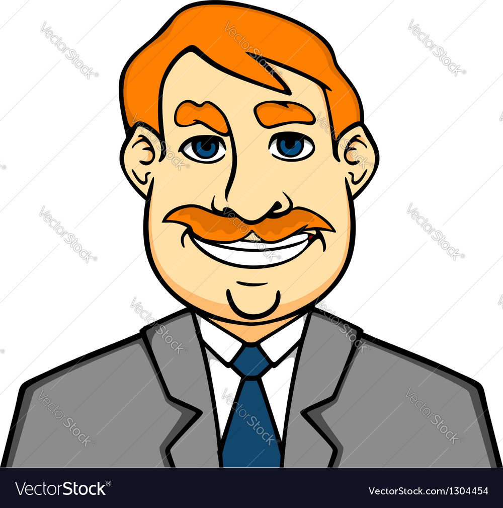 Adult smiling man vector | Price: 3 Credit (USD $3)
