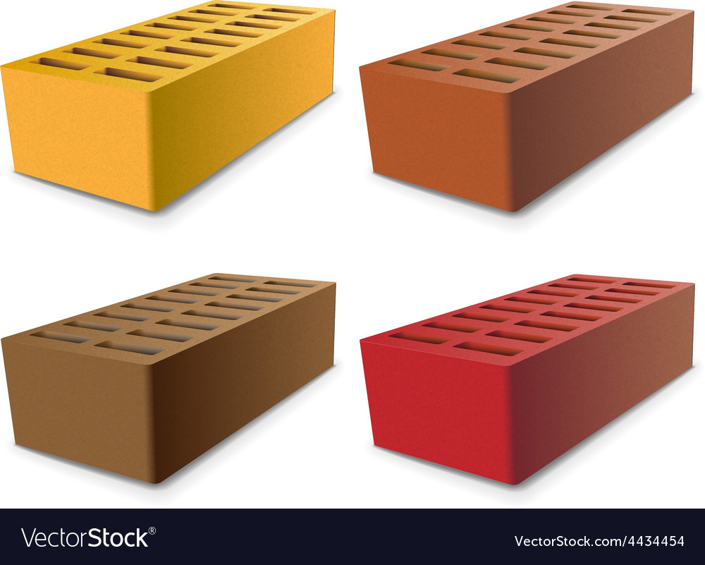 Brick set vector | Price: 1 Credit (USD $1)