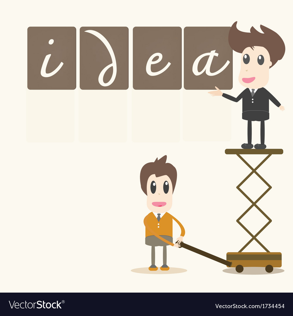 Businessman idea assembly vector | Price: 1 Credit (USD $1)