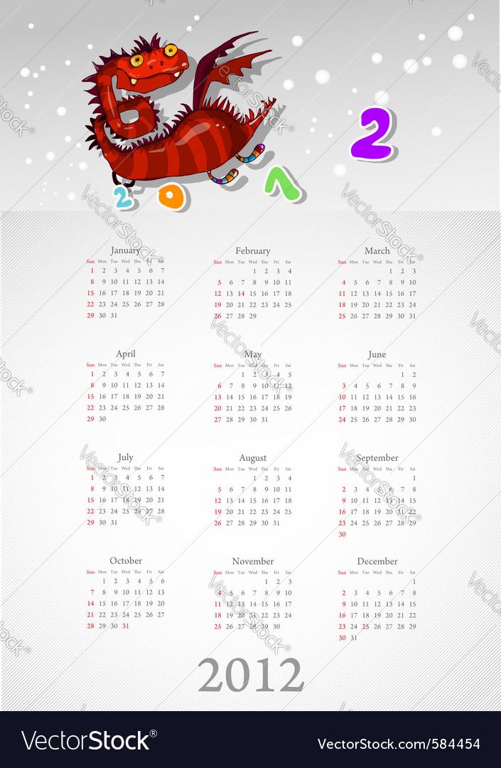 Calendar 2012 vector   Price: 1 Credit (USD $1)
