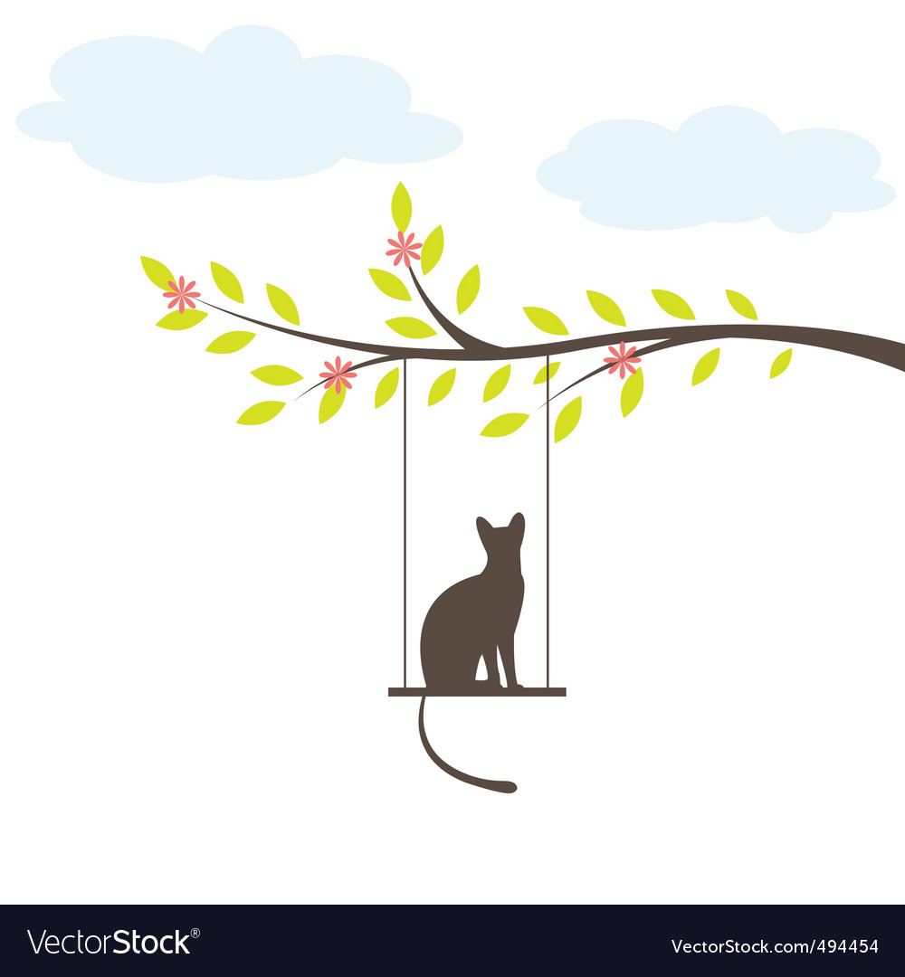 Cat silhouette vector | Price: 1 Credit (USD $1)