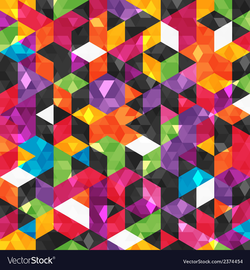 Colorful abstract pattern with geometric shapes vector | Price: 1 Credit (USD $1)