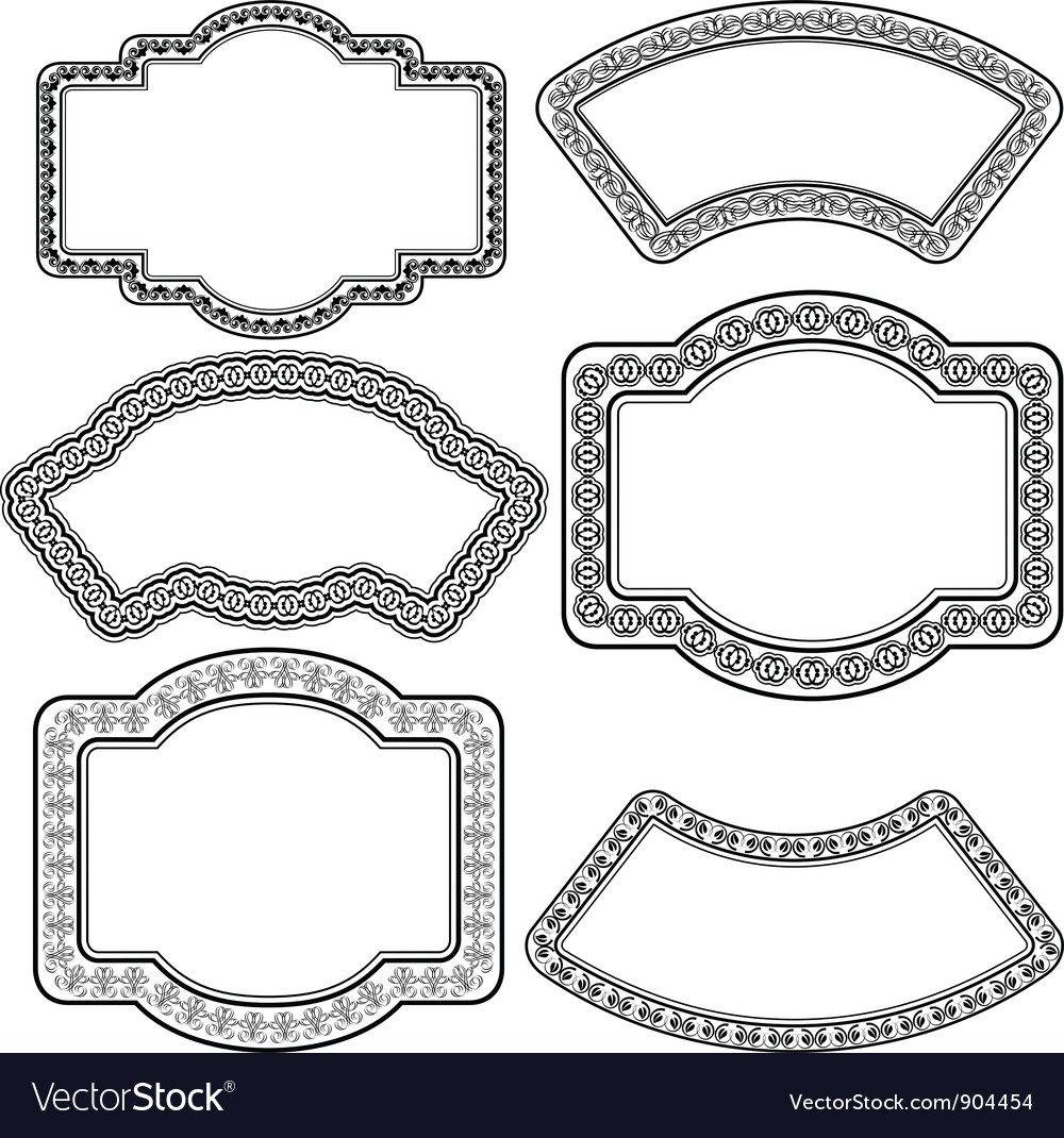 Frame with ornaments vector | Price: 1 Credit (USD $1)
