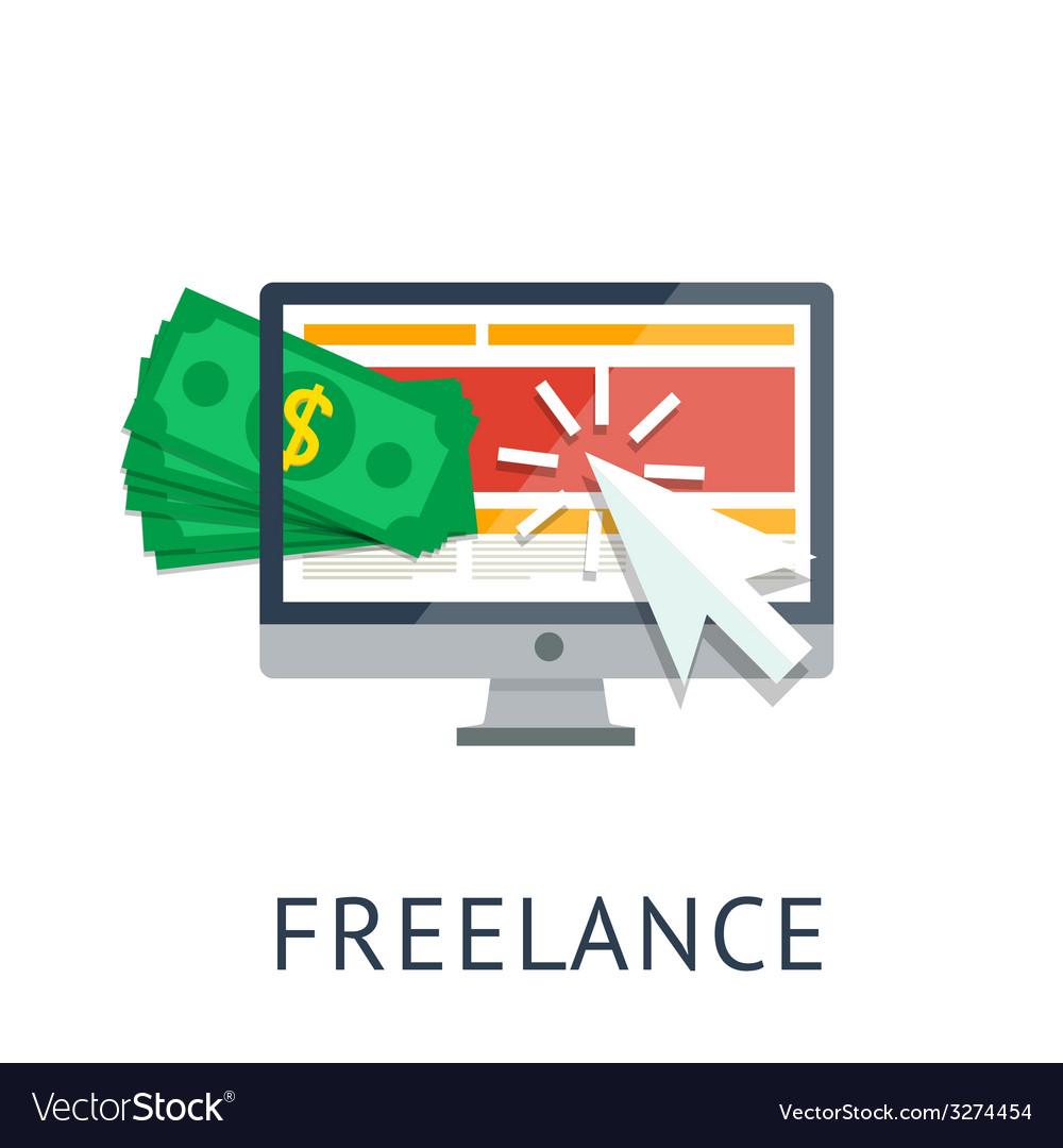 Freelance icon vector   Price: 1 Credit (USD $1)
