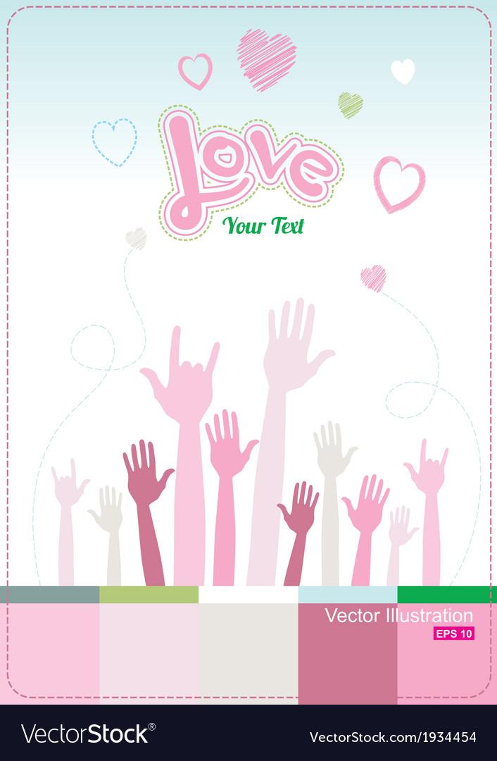 Handheart vector | Price: 1 Credit (USD $1)