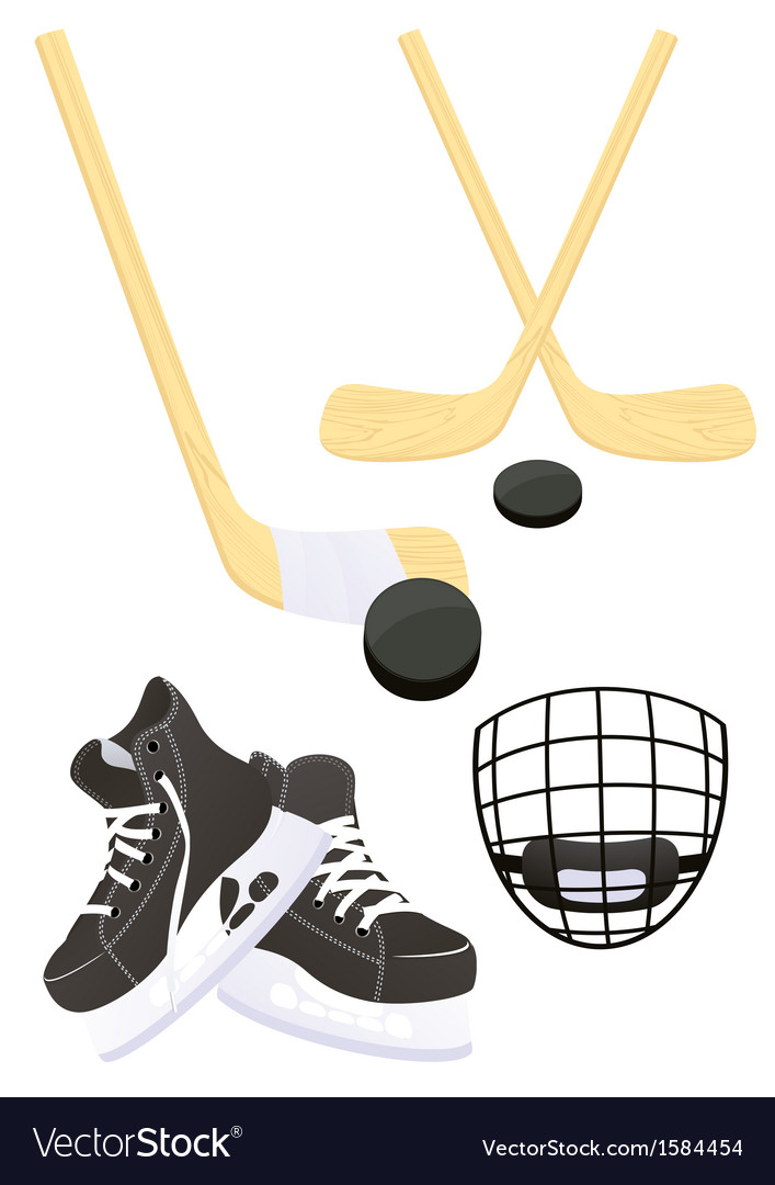 Hockey objects vector | Price: 1 Credit (USD $1)