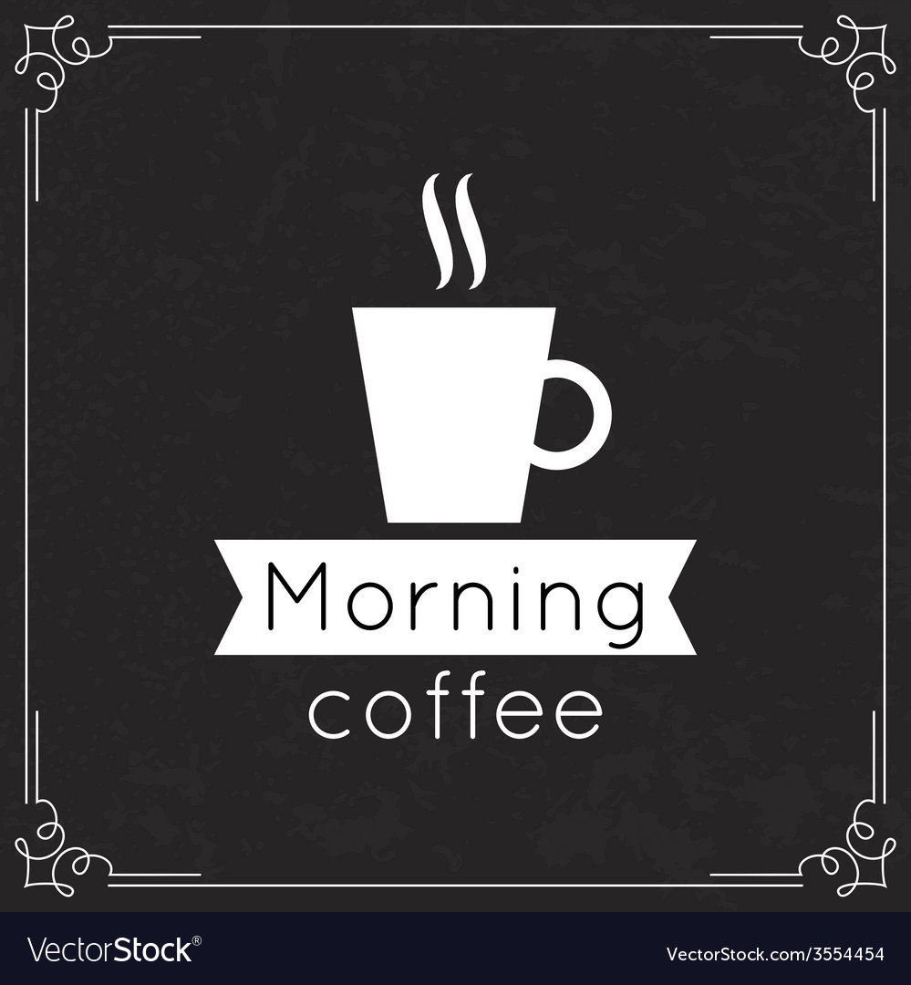 Morning coffee label vector | Price: 1 Credit (USD $1)