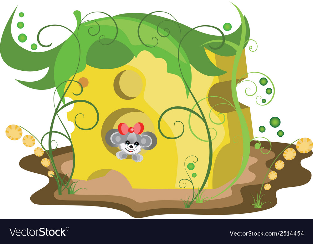 Mouse in cheese vector | Price: 1 Credit (USD $1)
