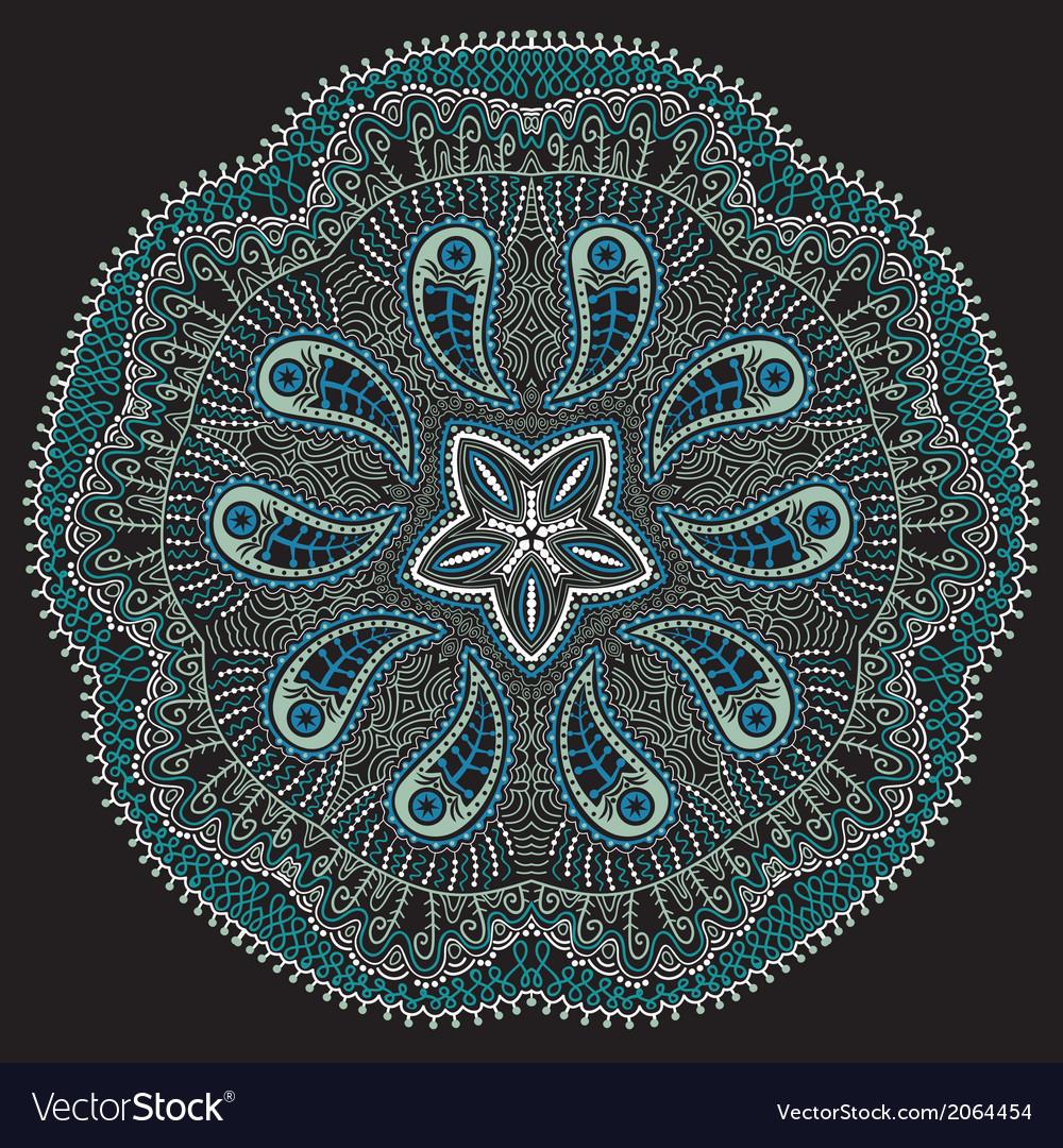 Ornamental round lace snowflake vector   Price: 1 Credit (USD $1)