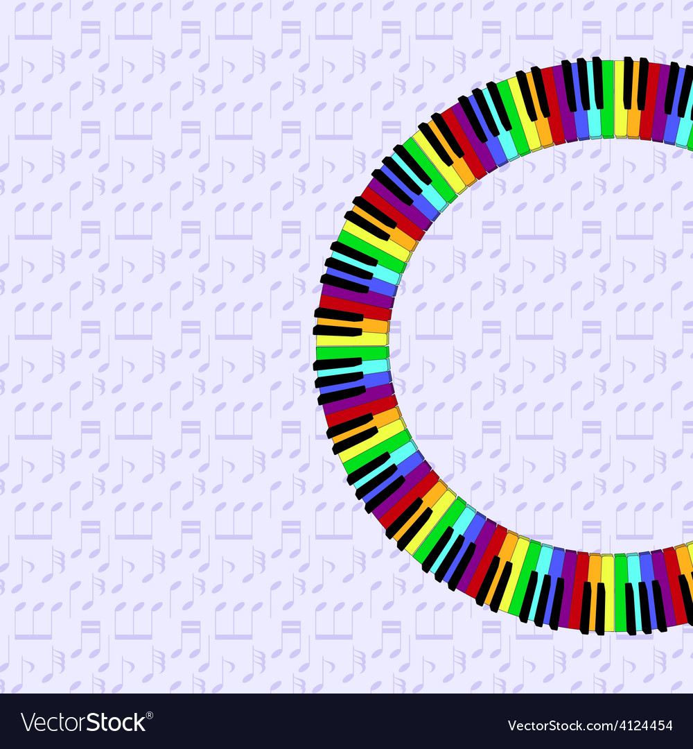 Piano keyboard on dimmed backgorund vector | Price: 1 Credit (USD $1)