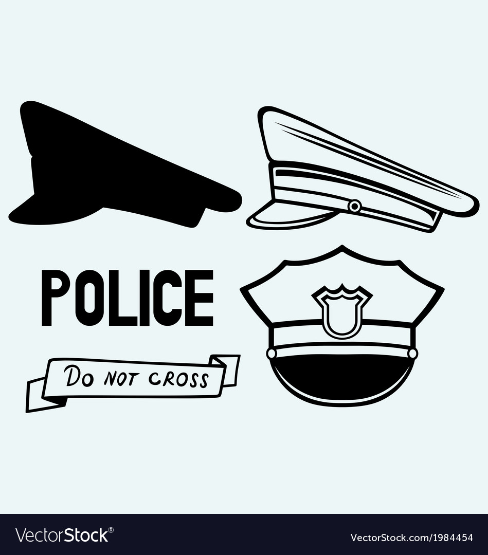 Police cap vector | Price: 1 Credit (USD $1)