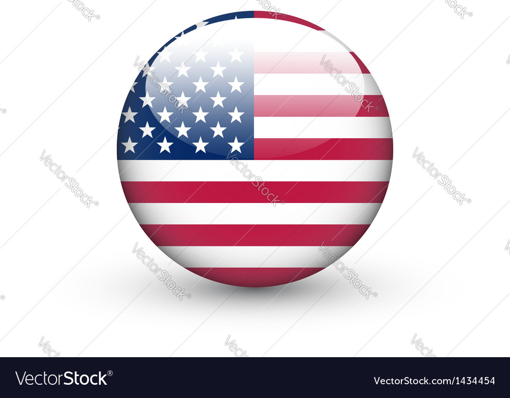 Round icon with national flag of the usa vector | Price: 1 Credit (USD $1)