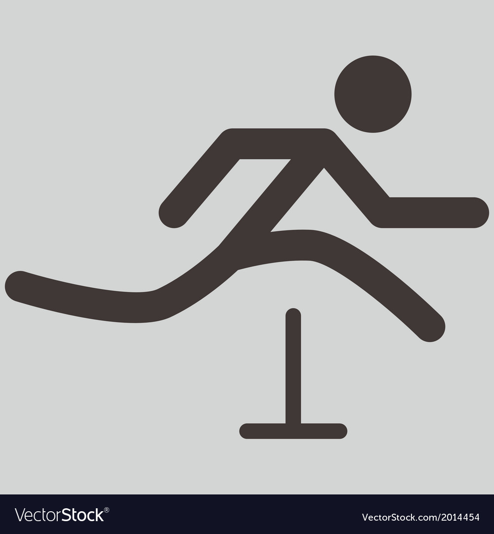 Running hurdles icon vector | Price: 1 Credit (USD $1)