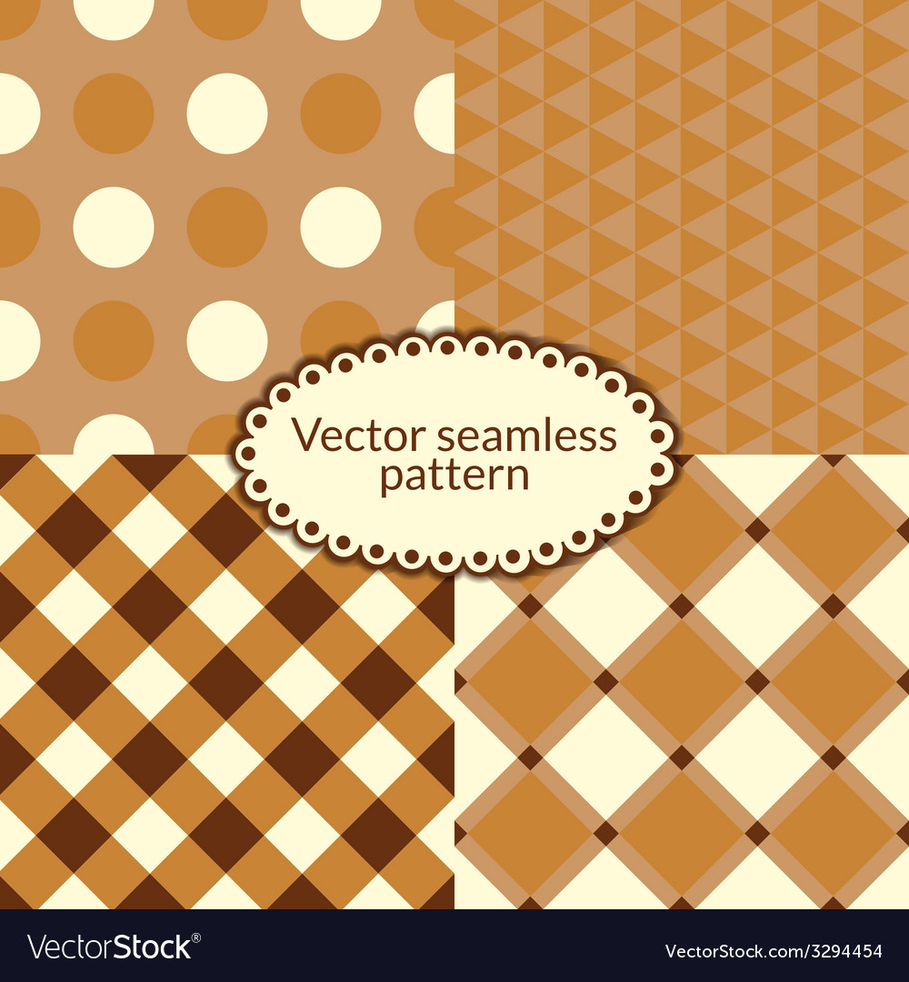 Set simple seamless pattern vector | Price: 1 Credit (USD $1)