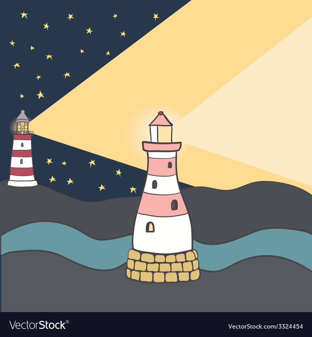 Shiplighthouse10 vector | Price: 1 Credit (USD $1)