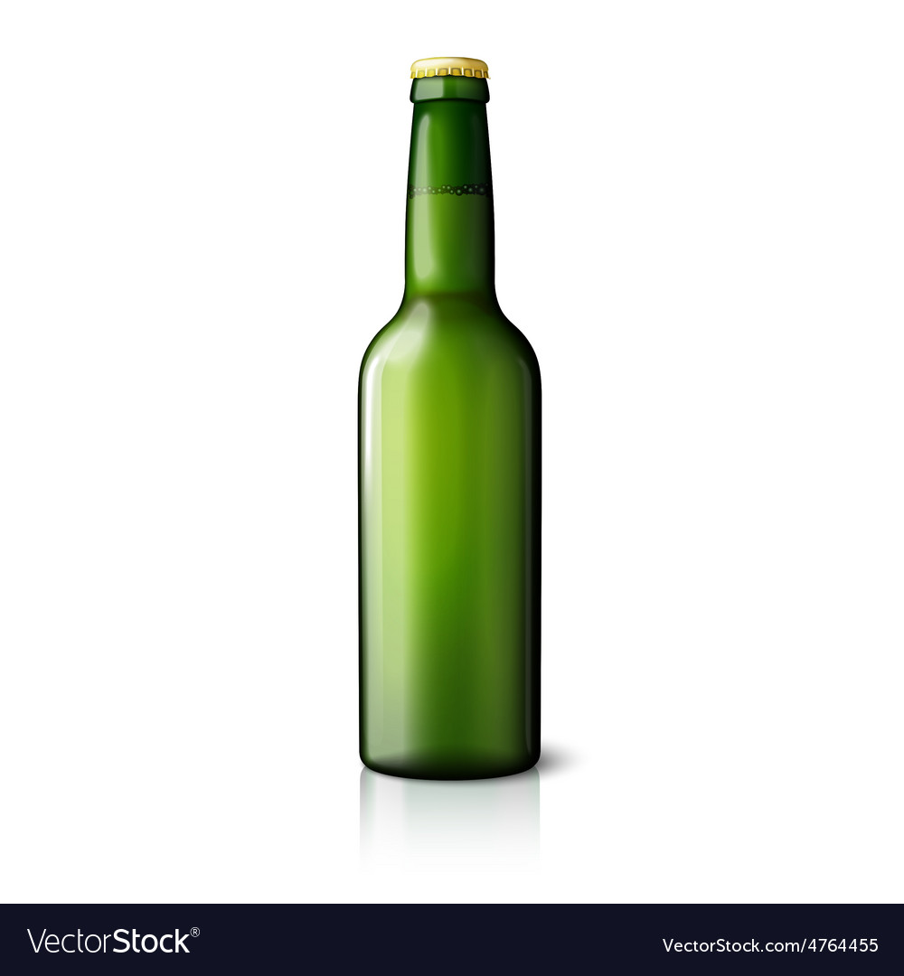 Blank green realistic beer bottle isolated on vector | Price: 3 Credit (USD $3)