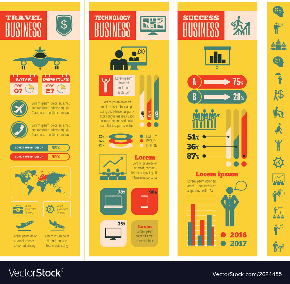 Business infographic template vector | Price: 1 Credit (USD $1)