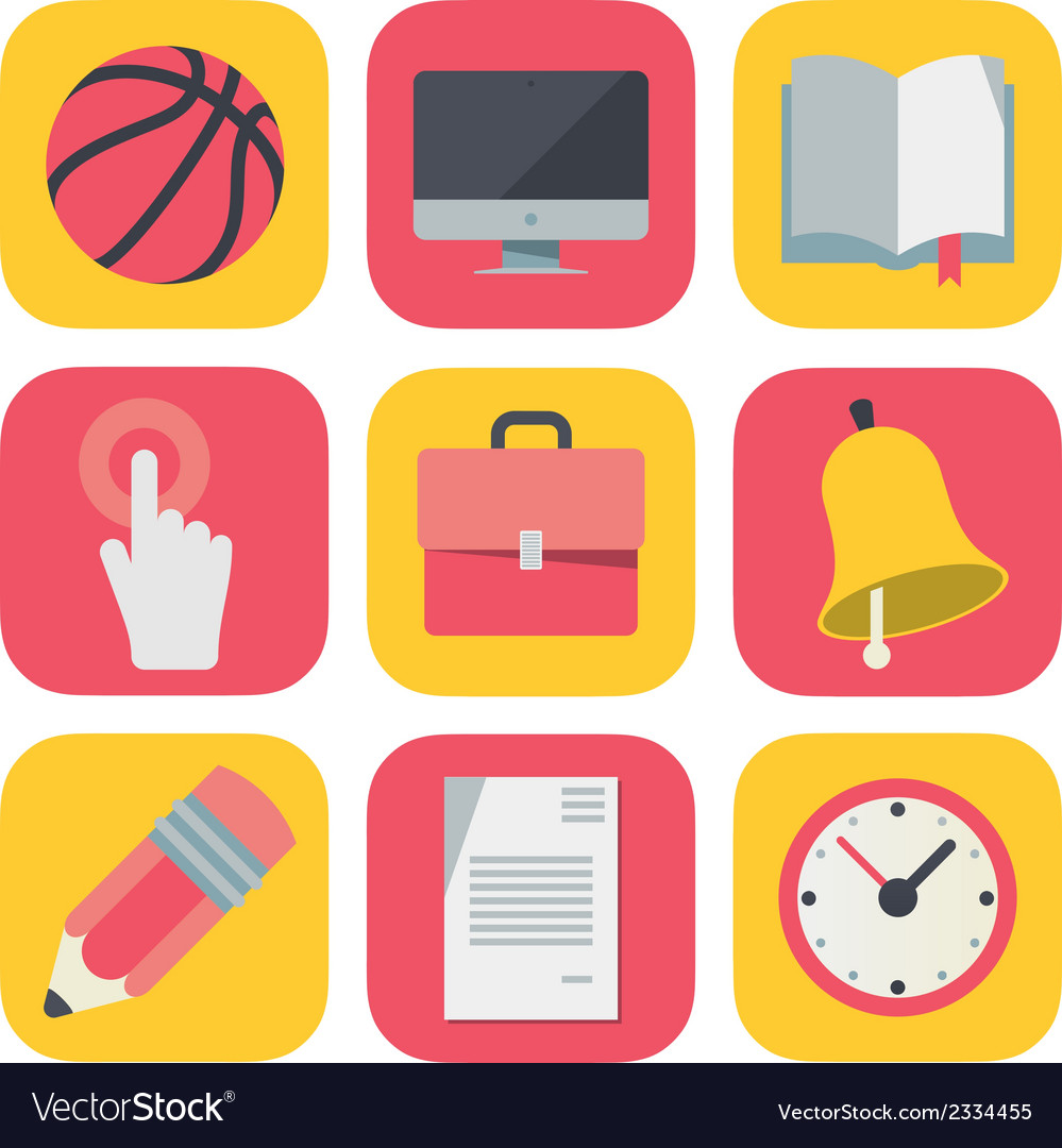 Clean and simple education icons for mobile os vector   Price: 1 Credit (USD $1)