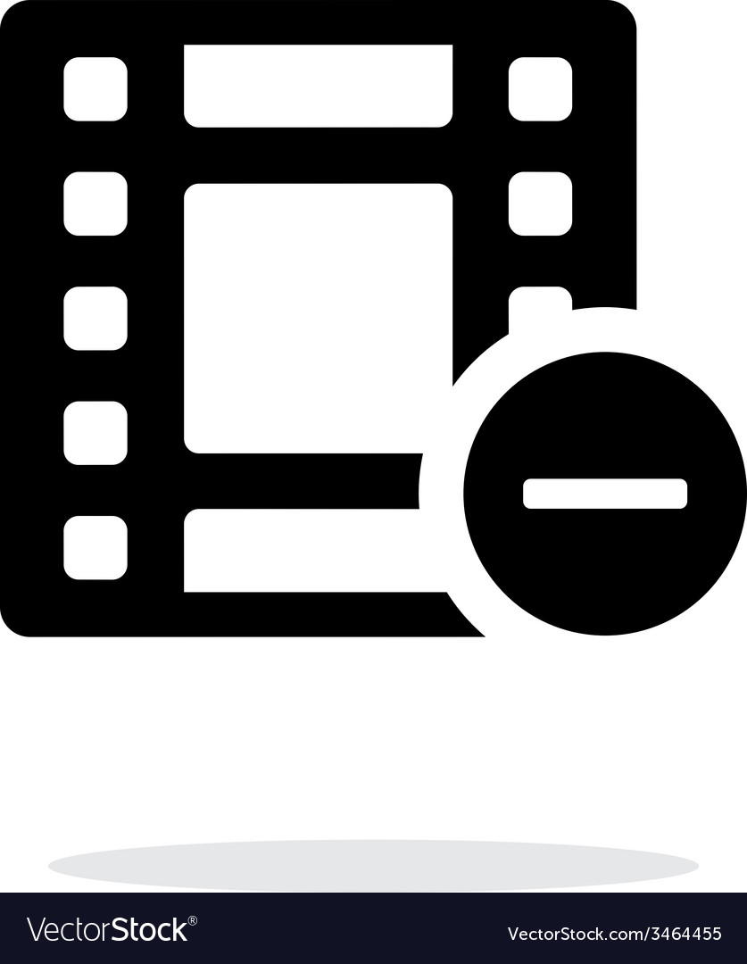 Film icon on white background vector | Price: 1 Credit (USD $1)