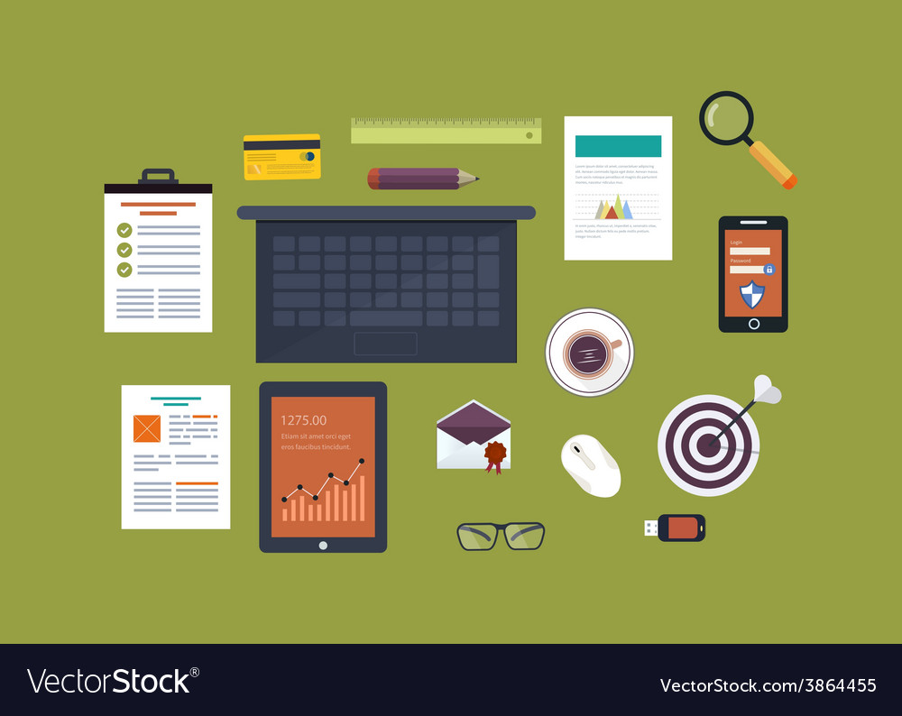 Flat design concept icons set vector | Price: 1 Credit (USD $1)
