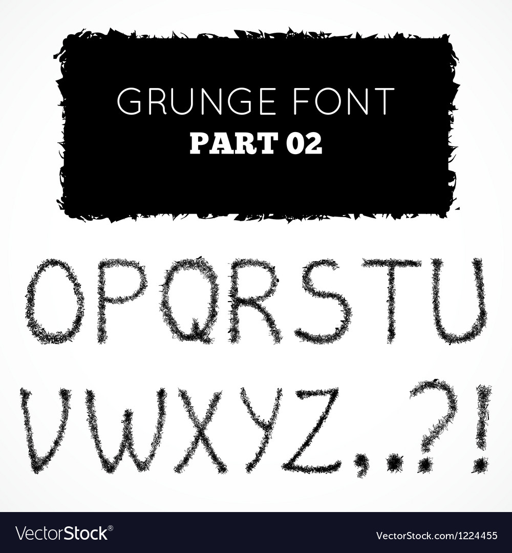 Grunge hand written alphabet vector | Price: 1 Credit (USD $1)