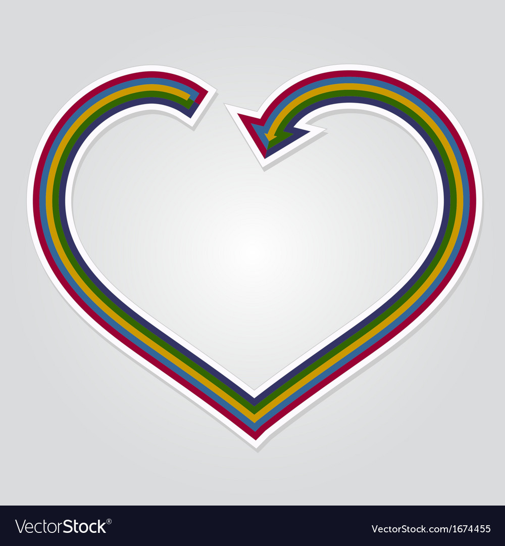 Heart arrow background vector | Price: 1 Credit (USD $1)
