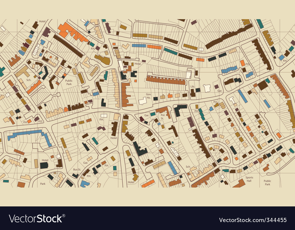 Housing map vector | Price: 1 Credit (USD $1)