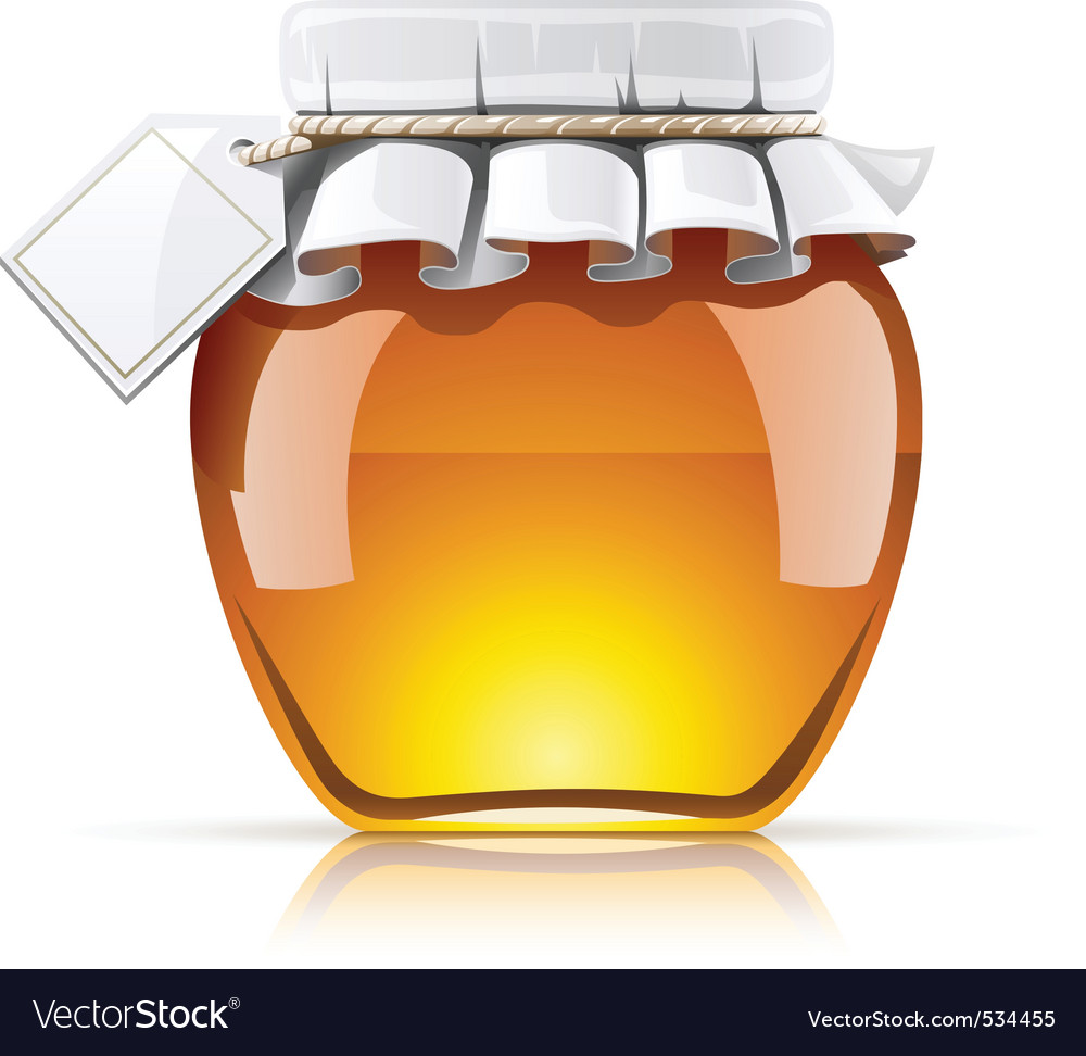 Jar with honey vector | Price: 3 Credit (USD $3)