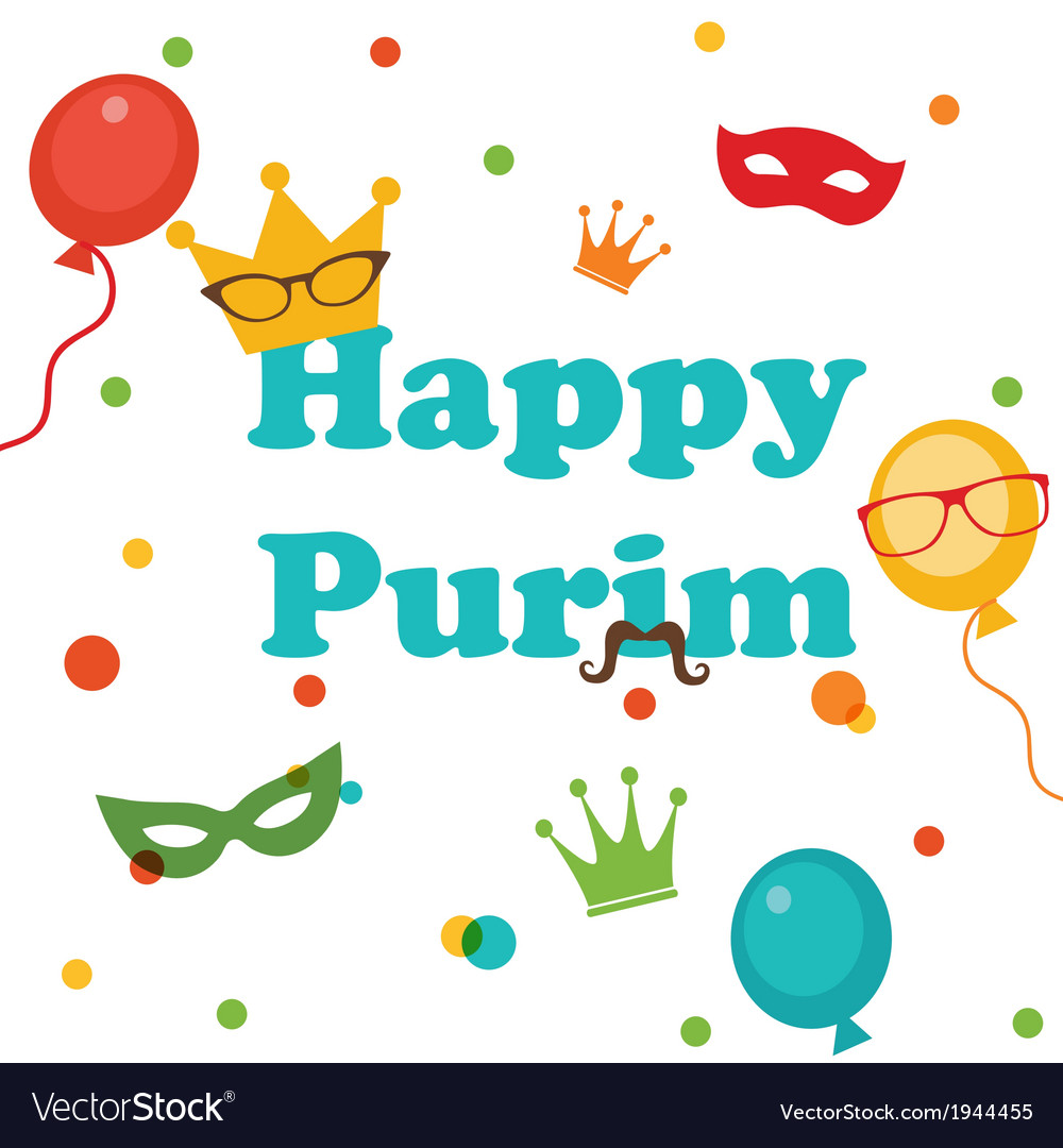 Jewish holiday purim set vector | Price: 1 Credit (USD $1)