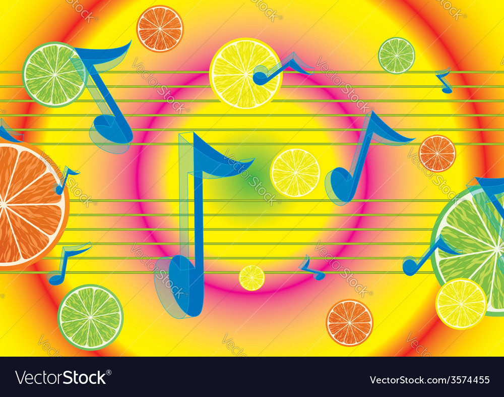 Juicy melody background vector | Price: 1 Credit (USD $1)
